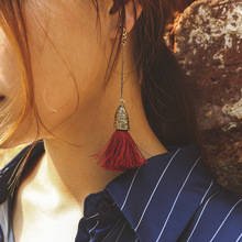 women Fringed long earrings 2019 fashion retro style ethnic earrings female tassel  Drop Dangle  colorful jewelry недорого
