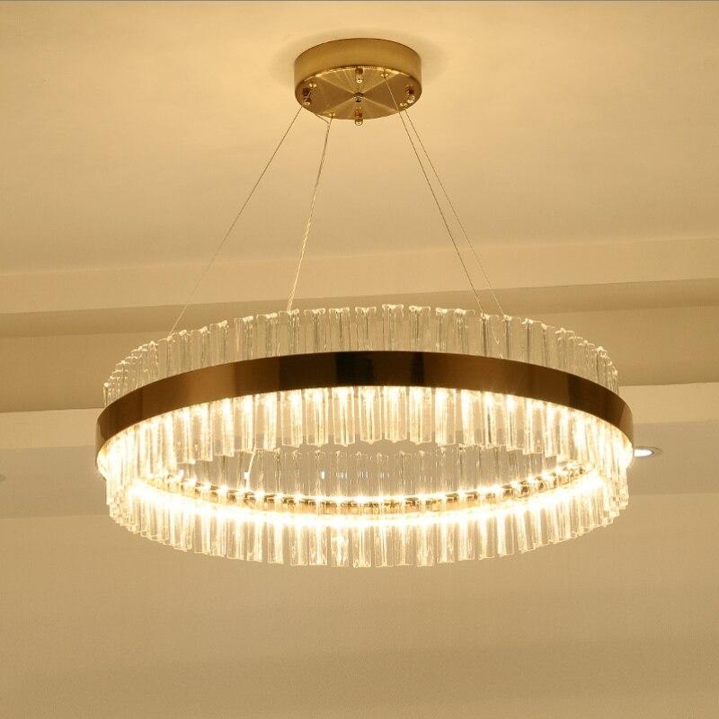 <font><b>LED</b></font> <font><b>Lustre</b></font> Post-modern Chandeliers crystal lamp of living room lights gold Chandelier Luminaire Lampen