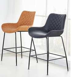 Скандинавский барный стул для отдыха семейный Современный Креативный Железный барный стул перед столом Сеть Красный Кофейный стул
