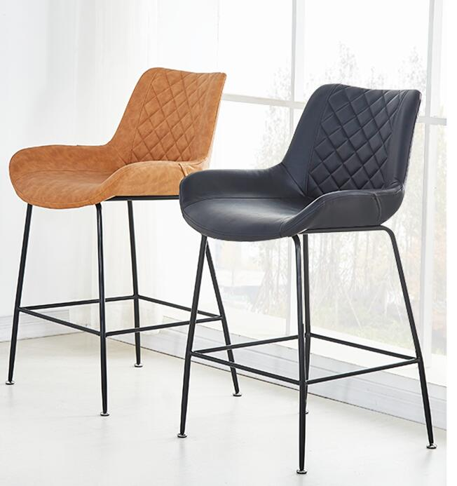 Nordic Bar Chair Leisure Family Modern Simple Creative Iron Bar Chair Before The Table Network Red Coffee Stool