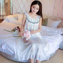 Hot Women Night Gowns Sleepwear Nightwear Long Sleeping Dress Luxury  Nightgown Women Casual Night Dress Ladies baad4088d