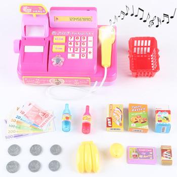18 sztuk elektroniczna kasa do supermarketu zabawka koszyk koszyk towary maszyna dźwięk udawaj zagraj w kasjer zabawki dla dziewczynek tanie i dobre opinie C0245 Zawodów Muzyka 5-7 lat 14 Lat i up 8 ~ 13 Lat Chiny certyfikat (3C) Electronic Supermarket Cash Register Toy Shopping Basket Electronic Supermarket Cash Register