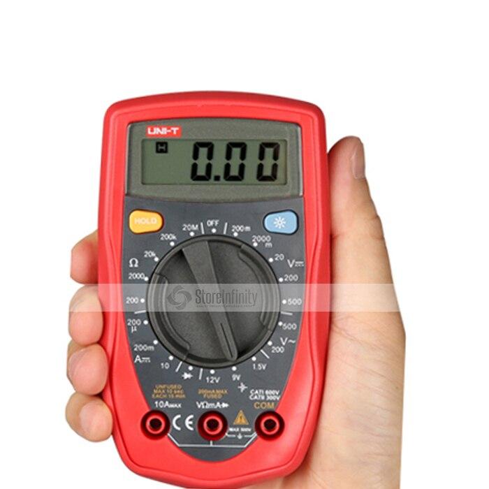Hand Held Ohmmeter : Uni t ut d palm size digital multimeter handheld ac dc