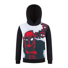 Hot Deadpool 3D Printed Spring Children Boys Long Sleeve T Shirts With Hooded Sweatshirts Outerwear Clothing Sets Cotton Shirts