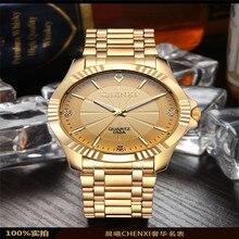 Chenxi Hombres Del Reloj de Oro Relojes de Lujo Superior de la Marca Famosa 2016 Reloj Hombre Reloj de Oro de Cuarzo Reloj de Pulsera Relogio masculino