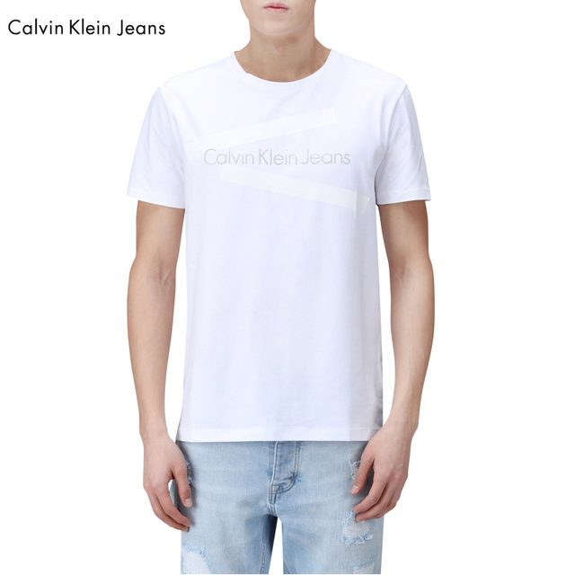 Calvin Klein Jeans / CK 2017 Men's Classic Style Casual Short Sleeve T-shirt Men Popular Letter Print O-Neck Tops Tees
