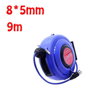8*5mm 9m Automotive Air Hose Reel Pneumatic Hose PU Tube OD 8MM ID 5MM Automatic Retractable Reel Telescopic Drum Hose - DISCOUNT ITEM  5% OFF Home Improvement