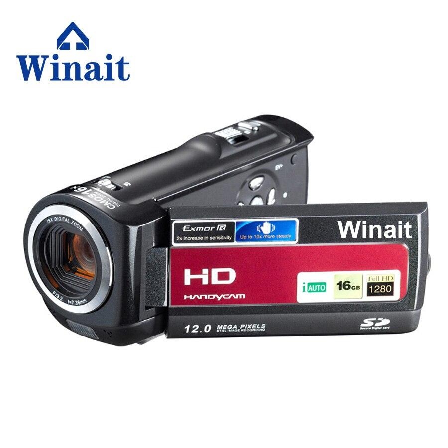 Freeshipping winait 16MP 5.0MP CMOS Professional Video Camera HDV-777 HD 720P 30fps Digital Video Camcorder