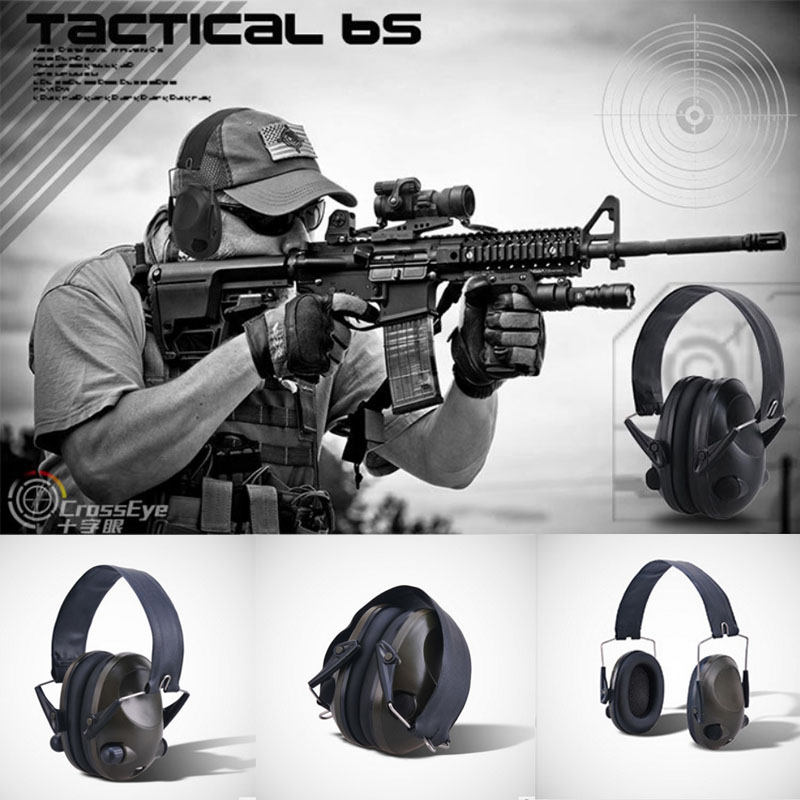 Anti-noise IPSC Impact Sport Hunting Electronic Tactical Earmuff Shooting Ear Protector Headphone Hearing Protection leshp tactical sport headphones for hunting shooting sport noise tac 6s hearing protector earmuffs folding protection