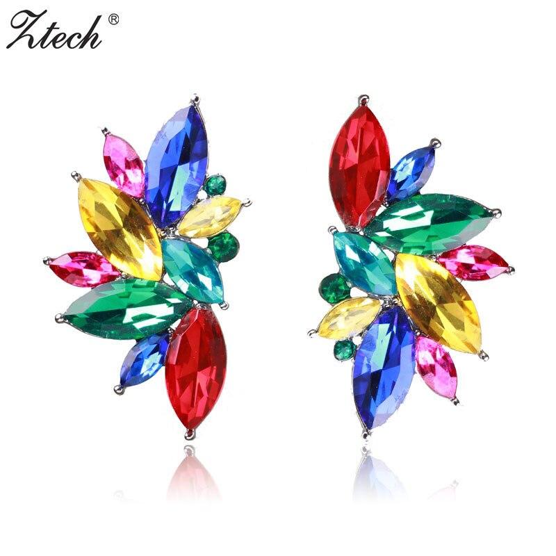 Ztech Opal Stone Stud Earrings Christmass
