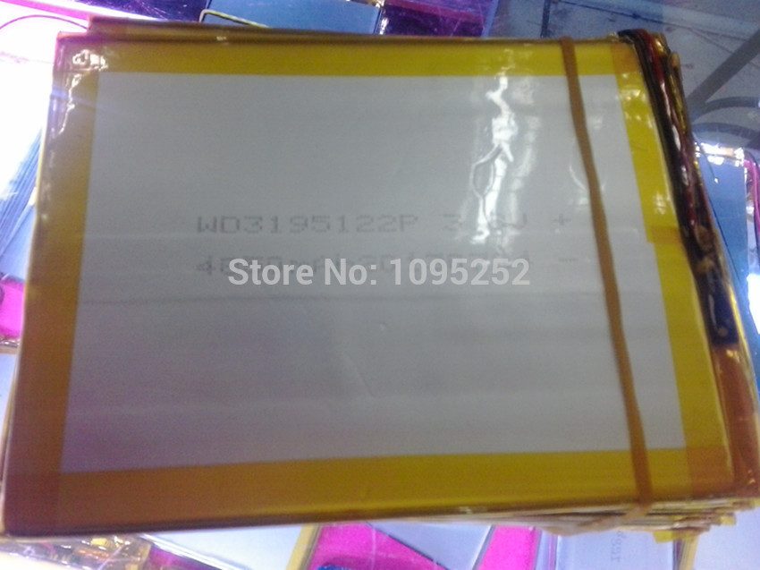 1pcs 3.7V 4850 mAh Li-polymer rechareable Battery Lithium Li-Po 3195122 for Mobile Power MP5 Tablet PC PS