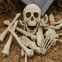 [Funny] Tricky toy Skeleton Bones model Simulation Human Bones Horror toys halloween props Haunted House Decorations prank toy