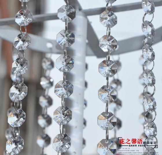 6 m 20 Pcs Pour d/écoration de mariage et de No/ël Guirlande de perles de cristal pour lustre