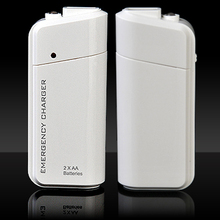 6 Colors Available Mini Emergency Charger Power Bank USB Phone Charger Universal LED Light Portable Rechargeable External
