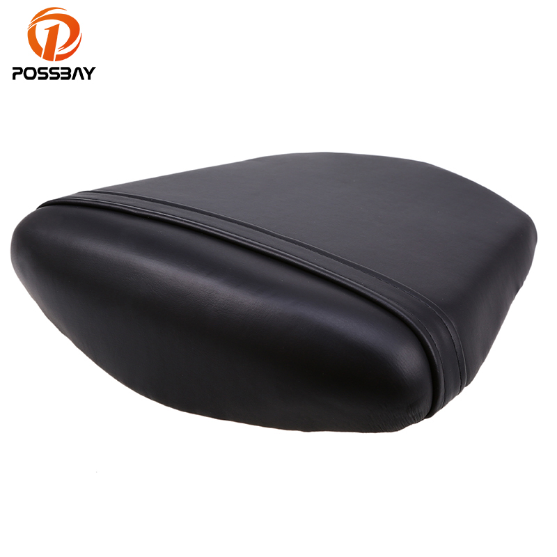 POSSBAY Motorcycle Rear Seat Cushion Cover Scooter Back Seat Leather For Yamaha YZF R6 2003 2004 2005 Off-Road Dirt Bike