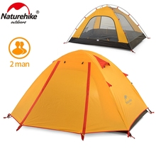 Naturehike 2 Person Camping Tent Double Layers Aluminum Rod 3 Season Outdoor Hiking Travel Play Tent Rainproof NH15Z003-P