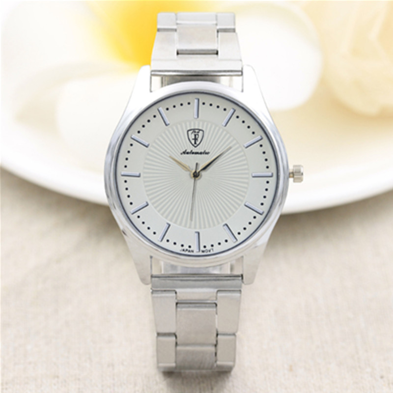 New Fashion Women watches Stainless Steel Silver Gold Mesh Watch Unique Simple Watches Casual Quartz Wristwatches Clock Hot Sale