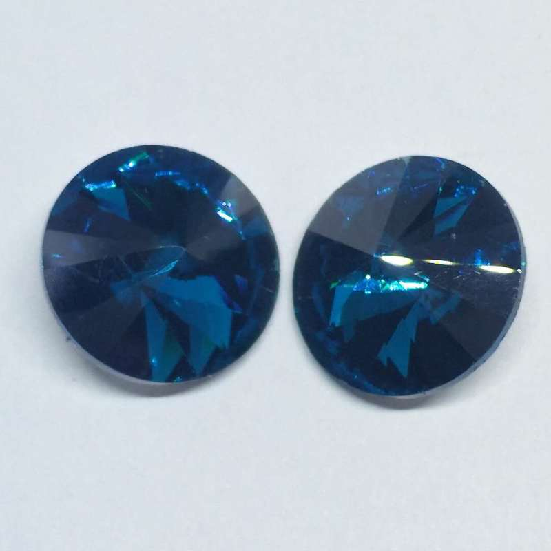 Peacock blue Satellite Round Crystal Glass Sewing Pointback Rhinestones DIY Wedding Dress 6mm 8mm 10mm 12mm 14mm 16mm 18mm