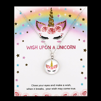 Unicorn Cute Animal Pendants Necklaces Jewelry Birthday Gift