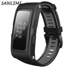 Sanlimi T28 GPS Фитнес трекер сердечного ритма Мониторы Смарт часы браслет 2017 новейший Смарт шагомер BT4.0 хорошо, как S908