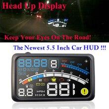 4E 5.5 «Head Up Дисплей HUD OBDII EOBD лобовое стекло проектор самоадаптацией автомобиля топлива параметр Дисплей предупреждения ускорения кронштейном