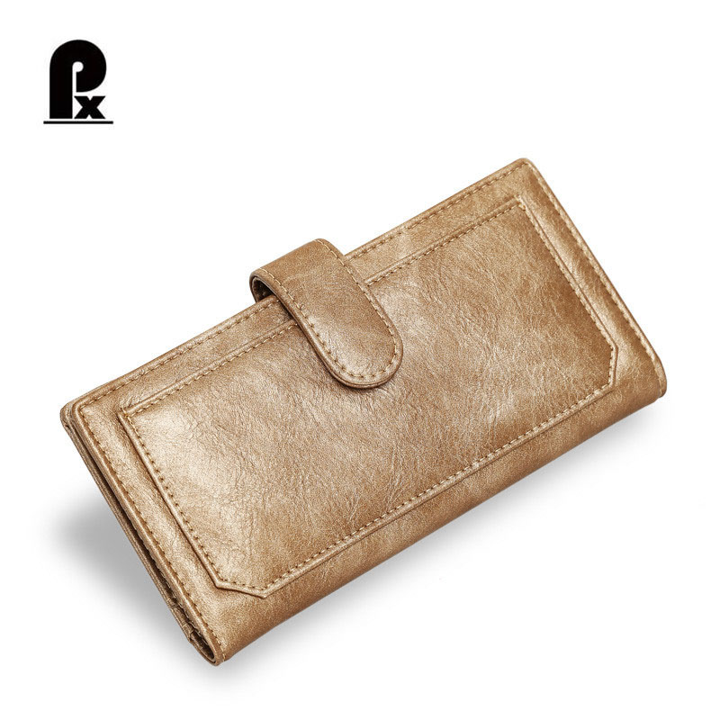 2018 New Style Women Wallet Oil Wax Leather Women Wallet Purse Wallet Female Card Holder Long Lady Clutch Carteira Feminina allen roth brinkley handsome oil rubbed bronze metal toothbrush holder