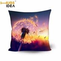 HUGSIDEA Design Flower Square Pillow Sofa Seat Cushion With Pillow Inner 3D Pattern Pillow Zipper Poly