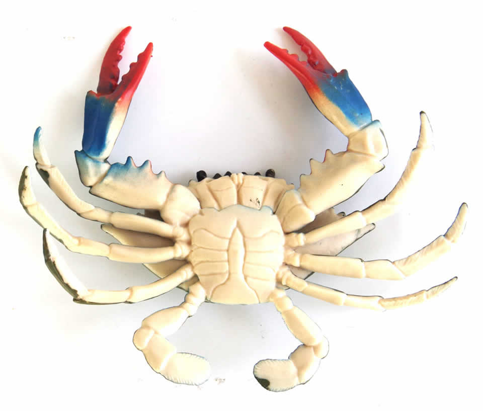 EASYWAY Simulation Animals Seafood Model Plastic Crab Toy Sea Life