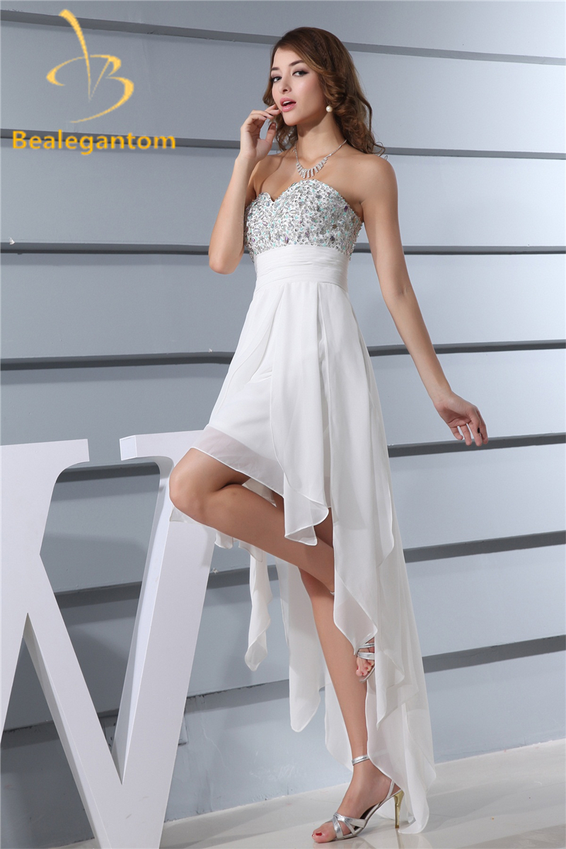 Buy white crystal prom dress and get free shipping on AliExpress.com
