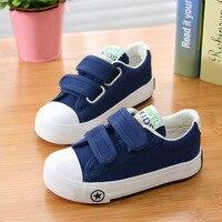 Baby Toddler Shoes 2016 New Spring Velcro Canvas Shoes For Children Boys Girls Denim Flat Kids