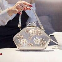 Ladies Dinner Bag Deluxe Evening bag 2018 sparkle pierced Crystal woman shoulder bag