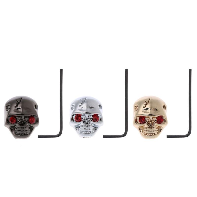 Skull Head Electric Guitar Volume Tone Tuning Knob Bass Metal Tuner Pot Control Knobs Guitar Parts