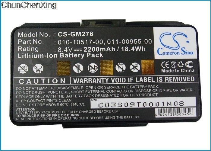 Cameron sino 2200 mah bateria 010-10517-00 para garmin gpsmap 276, 276c, 296, 376c, gpsmap 378, gpsmap 478, gpsmap 495