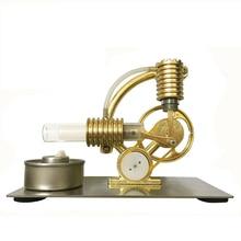 Hot Air Heating Stirling Engine Motor Generator Model Science Education Toy Kit stirling engine micro engine external combustion engine metal model m16 01 02 d