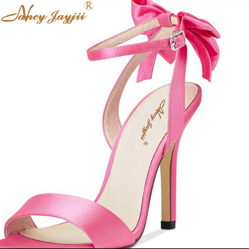 ФОТО Nancyjayjii  Women Summer Nubuck leather Peep Toe Ankle Buckle Bowtie Dress Sandals,Shoes Woman,Dress&Party,Plus Size 4-16.