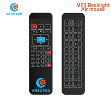 WESOPRO MP3 Backlight 2.4G Wireless Remote Control Keyboard Controller Air Mouse for Smart TV Android TV box mini PC HTPC Media