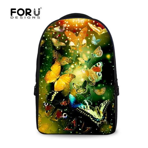 ФОТО FORUDESIGNS Fashion Women Travel Backpack Student Bagpack for Girls,Cute Children School Backpack Kids Laptop Snowflake Backpack