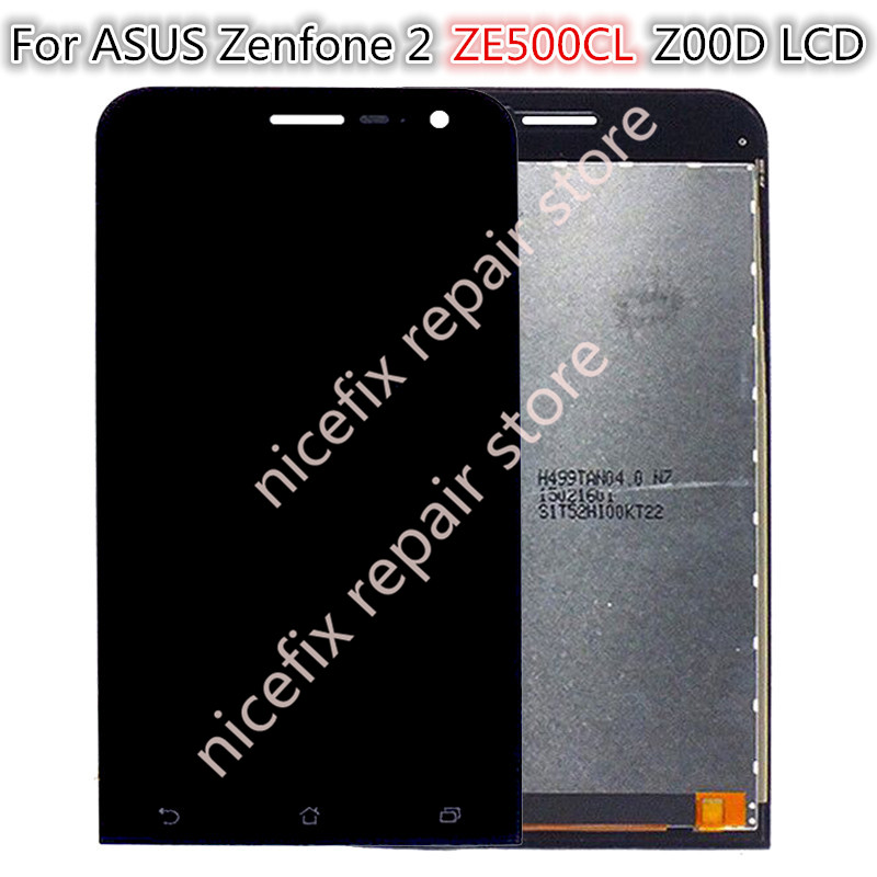 Black Lcd Display For Asus Zenfone 2 Ze500cl Z00d Touch Screen Digitizer Panel Glass Sensor Assembly/frame Attractive Fashion Mobile Phone Parts Mobile Phone Lcds