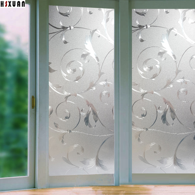 3d Flower Window Film Privacy Stickers On Glass Window