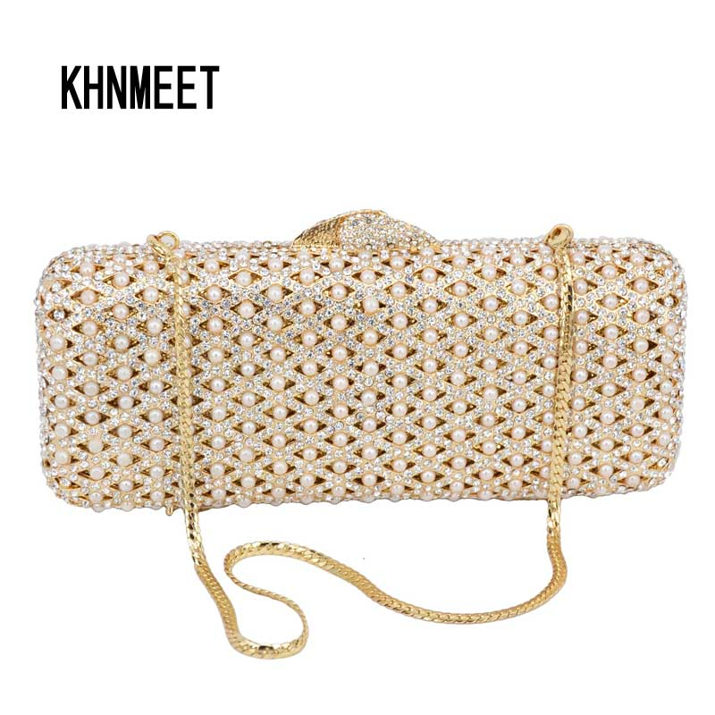 Luxury Pearl Clutch Evening Bag Chain Handbags Women Party Wedding Bride Crystal Diamond banquet Bag Day Clutches Ladies purse women custom name crystal big diamond clutch crossbody chain bag women handbags evening clutch bag 1001bg