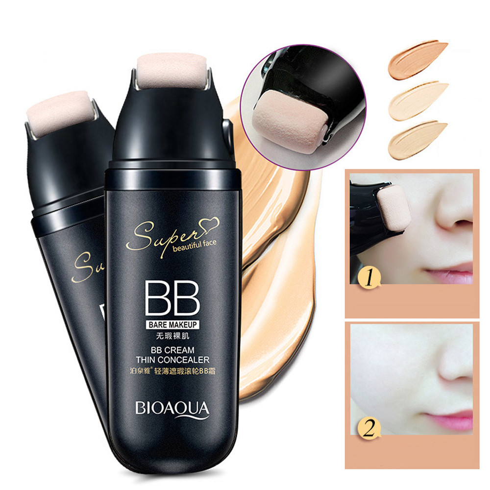 Roller Natural Face Cream Facial Cream BB Cream Face Concealer Dark Spot Foundation Waterproof Nude Beauty Makeup Kit золотые серьги по уху