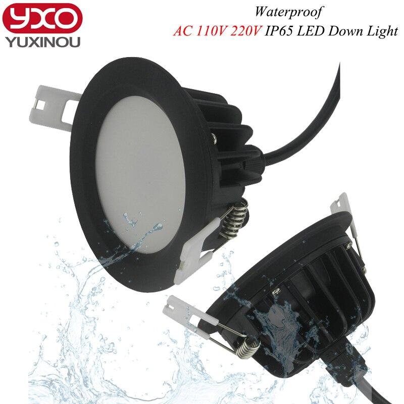 1 Stücke Wasserdichte Led Downlight Dimmbare 5 Watt 7 Watt 9 Watt 110 V 220 V Weiß Shell Lichter Für Home Bad Wohnzimmer Küche Beleuchtung