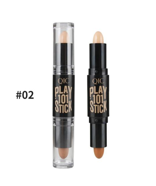 1 pcs Double-ended Eye Concealer Stick Face Foundation Creamy 2 in1 Contour Pen Stick Shimmer Professional Cosmetic Facial