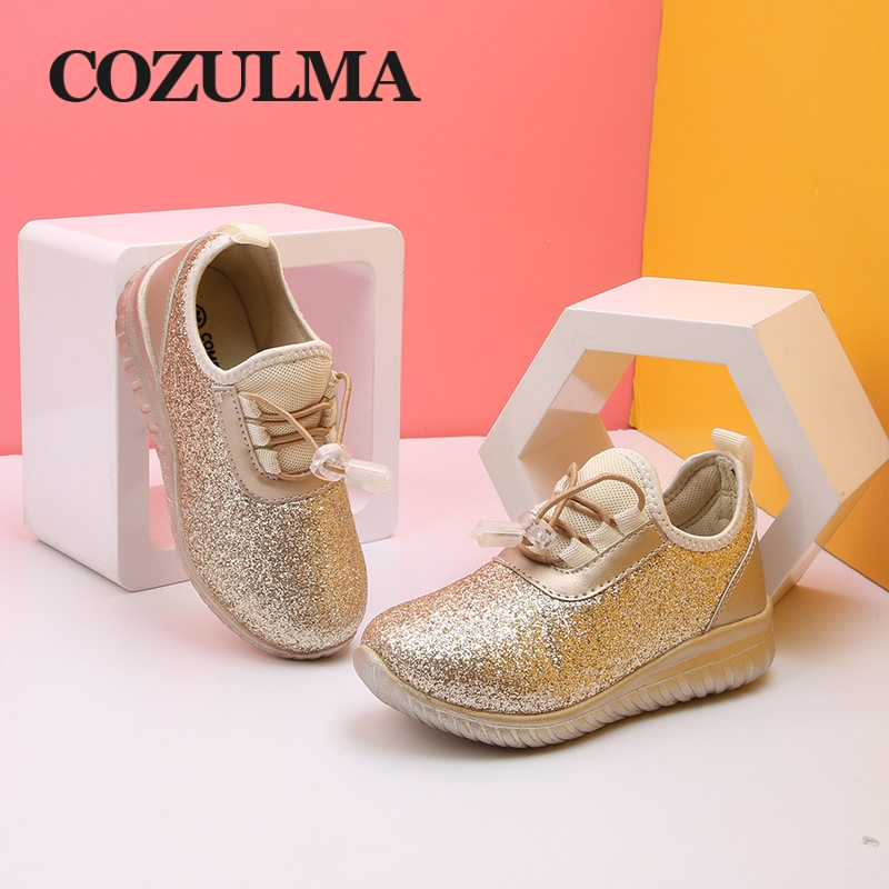 COZULMA Kids Sneakers for Boys Girls Children Breathable Fashion Sneaker  Gold Silver Light Shiny Child Soft Bottom Running Shoes-in Sneakers from  Mother ... 7d79ff2970b1