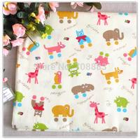 1 Meter Cartoon Cute Animal Printed Baby Bedding Home Textile Cotton Cloth Upholstery Fabric Sewing Material