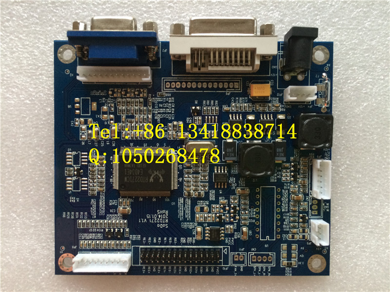 Design of industrial LCD panel driver panel wide temperature VGA/DVI signal input driver boardDesign of industrial LCD panel driver panel wide temperature VGA/DVI signal input driver board