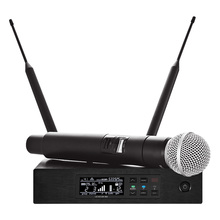 Wireless Microphones Long Range True Diversity UHF Professional Wireless Microphone System QLXD4 Wireless MIC Stage Performance