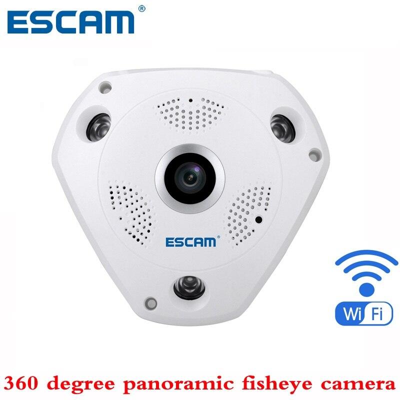 bilder für ESCAM shark QP180 HD 960 P H2.64 1.3MP 360 grad panorama fisheye infrarot kamera VR kamera unterstützung VR box und zwei-wege-gespräch