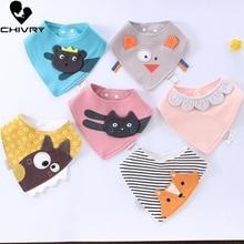 цена Chivry 100% Cotton Baby Boy Girl Bandana Bib Burp Cloth Cartoon Print Triangle Baby Bibs Scarf Meal Collar Burp Baby Accessories онлайн в 2017 году