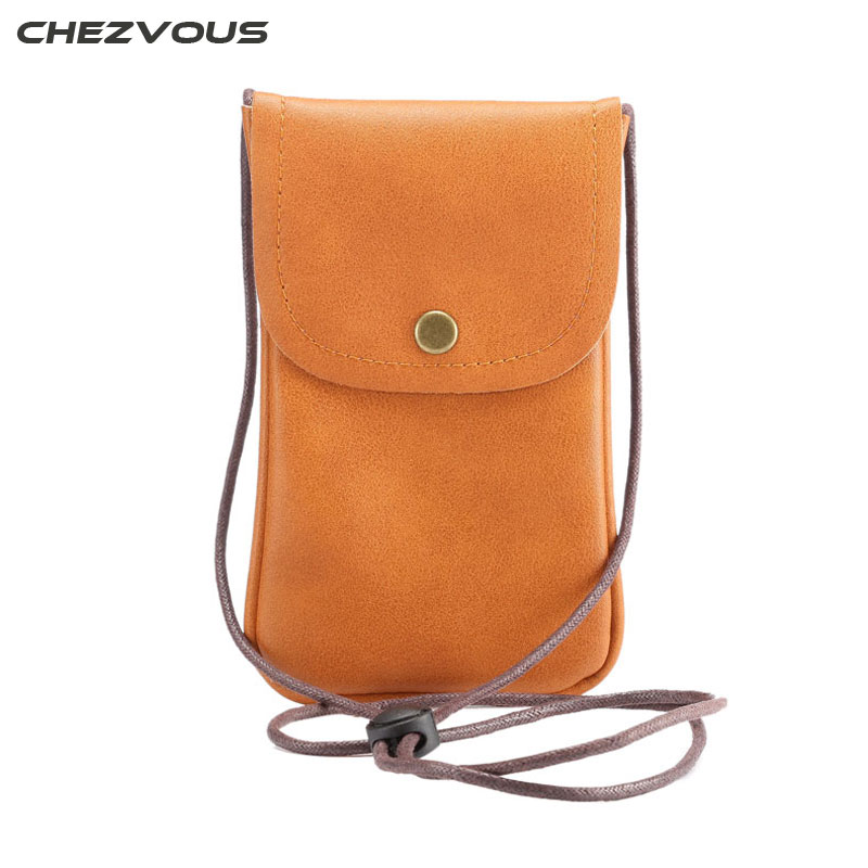 For Samsung Galaxy S8 S7 S7 Edge Phone Pouch PU Leather 5.7 inch Bag for iPhone 5S 6 6S 7 Plus with Scalable Strap XCZ03